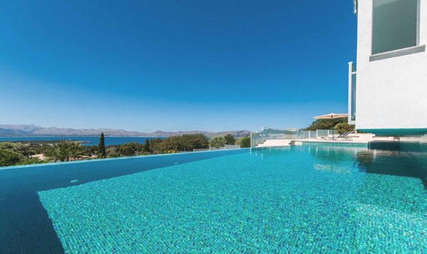 Pool und Meerblick Ferienvilla Mallorca Pm 3801