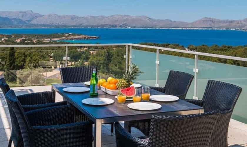 Terrasse und Meerblick Villa in Bonaire auf Mallorca PM 3801