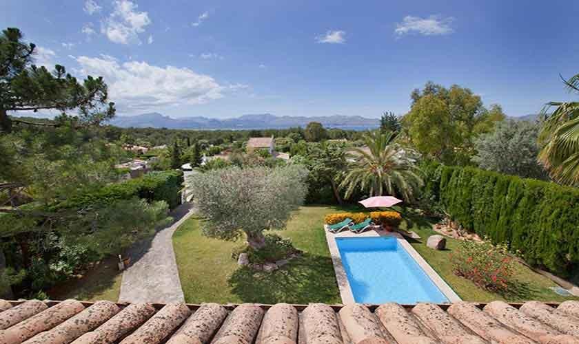 Terrasse oben Ferienhaus Mallorca PM 3806