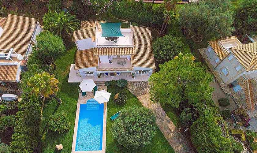 Blick auf das Ferienhaus Mallorca PM 3806