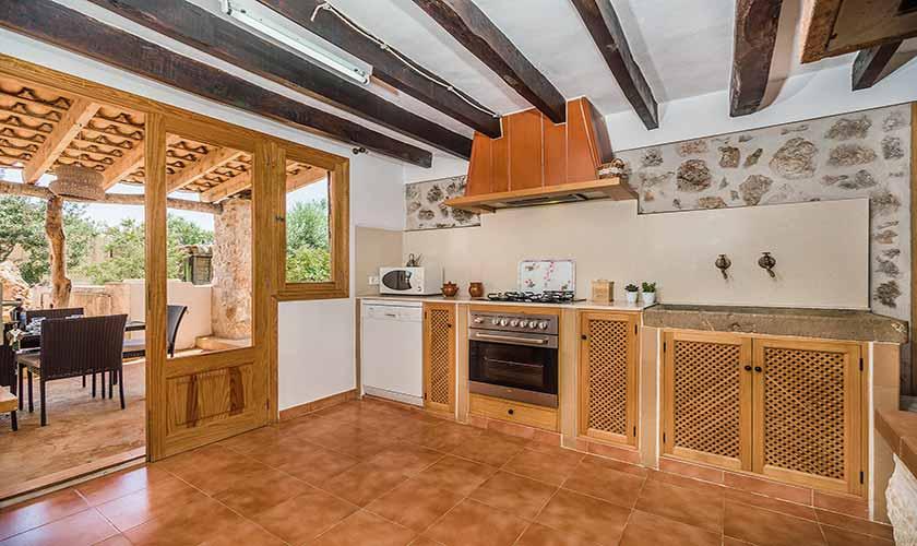 Küche Finca Mallorca bei Pollensa PM 3818
