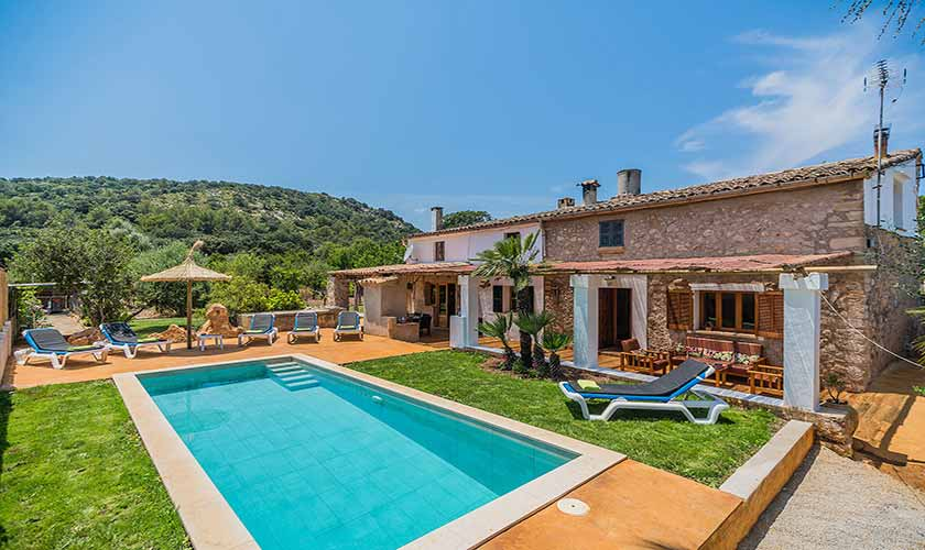 Pool und Finca Mallorca bei Pollensa PM 3818