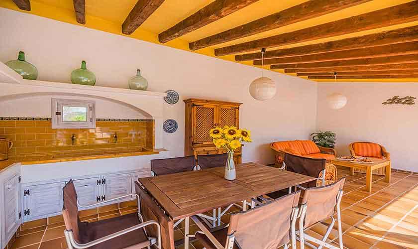 Außenküche Finca Mallorca Norden PM 3820