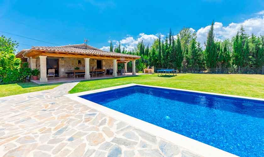 Poolblick Finca Mallorca bei Pollensa PM 3837