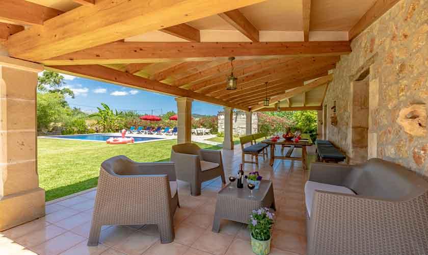 Lounge Terrasse Finca Mallorca bei Pollensa PM 3837