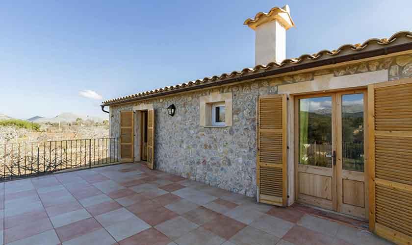 Terrasse oben Finca Mallorca Norden PM 3841