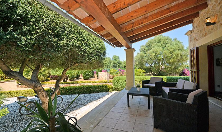 Terrasse und Finca Mallorca Nordküste PM 3850