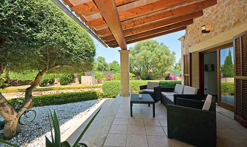 Terrasse Finca Mallorca Nordküste PM 3850