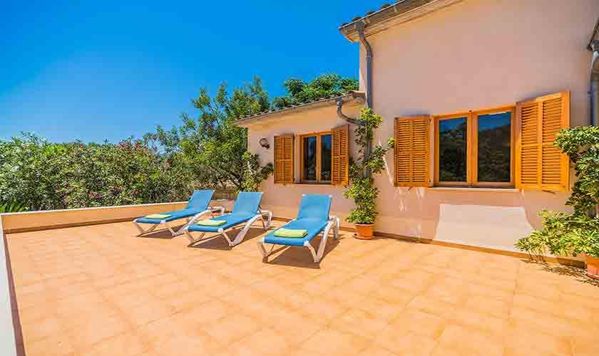 Blick auf die Ferienfinca Mallorca PM 3852