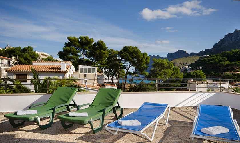Terrasse Mallorca Ferienwohnung Strandnähe PM 3853