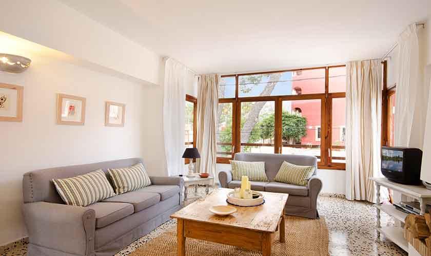Wohnzimmer  Mallorca Ferienwohnung Strandnähe PM 3853