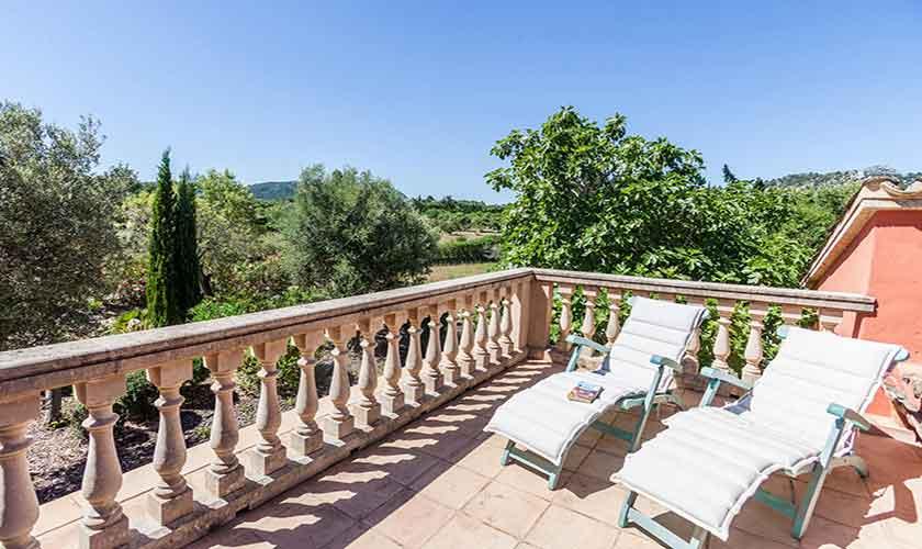 Terrasse oben Finca Mallorca 6 Personen PM 3865