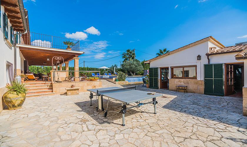 Tischtennis Finca Mallorca Norden 10 Personen PM 3868