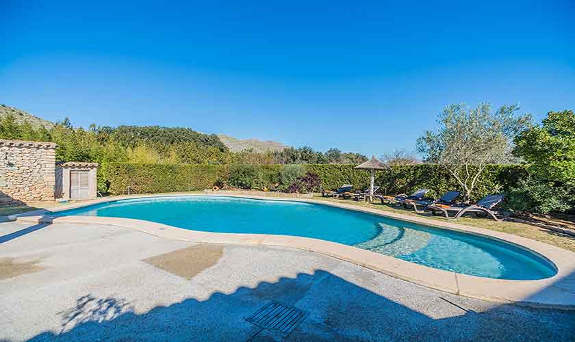 Poolblick und Finca Mallorca Norden PM 3875