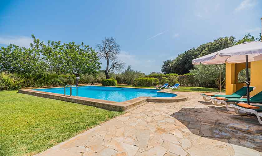 Pool und Terrasse Finca Mallorca 6 Personen PM 3876