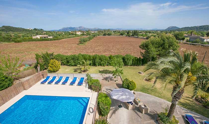 Pool und Landschaft Finca Mallorca PM 3892