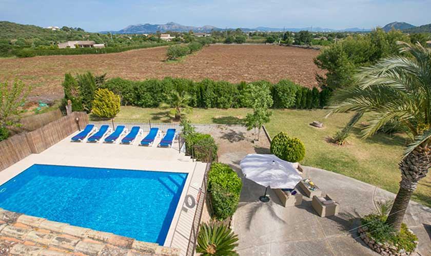 Pool und Blick Finca Mallorca PM 3892