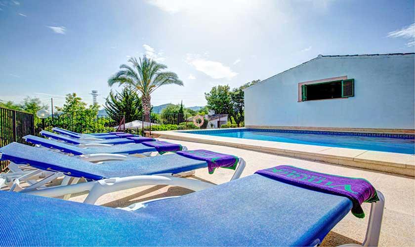 Pool und Liegen Finca Mallorca PM 3892