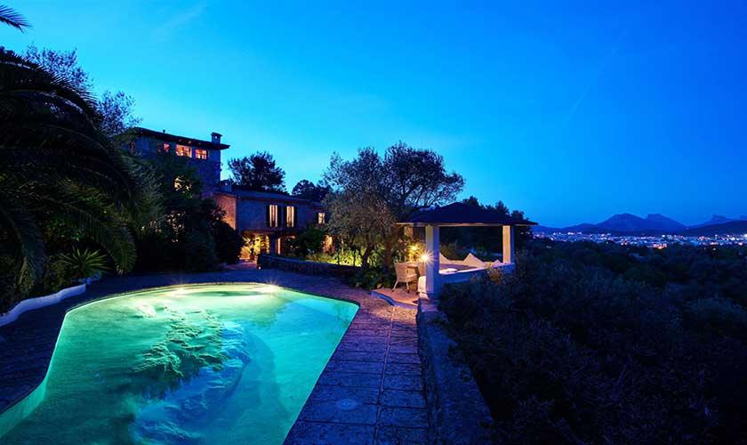 Finca  Mallorca bei Nacht PM 3910