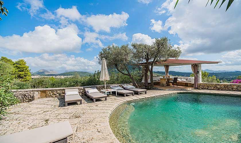 Pool und Liegen Finca Mallorca PM 3910