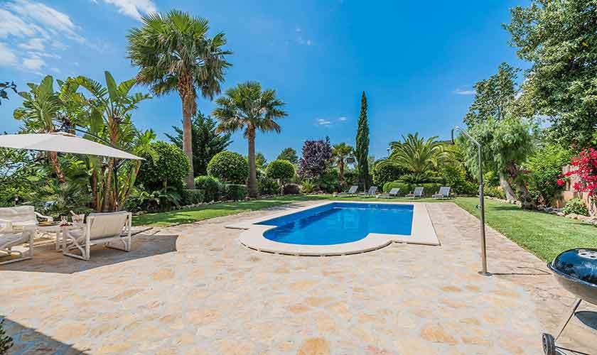 Poolblick Finca Mallorca für 6 Personen PM 3925