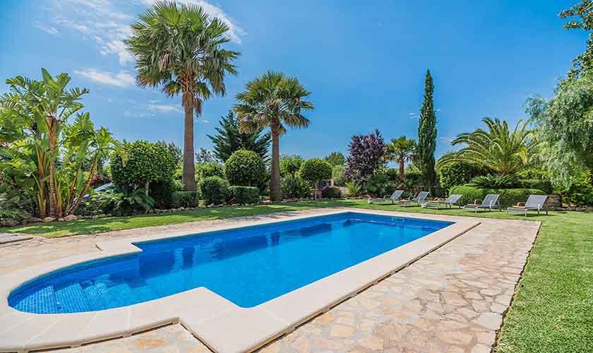 Pool und Garten Finca Mallorca für 6 Personen PM 3925