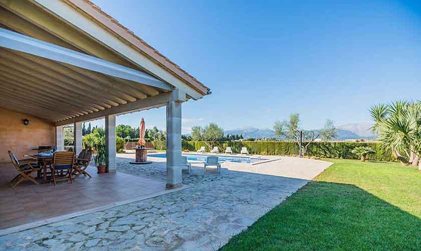 Terrasse und Finca Mallorca Norden PM 3926