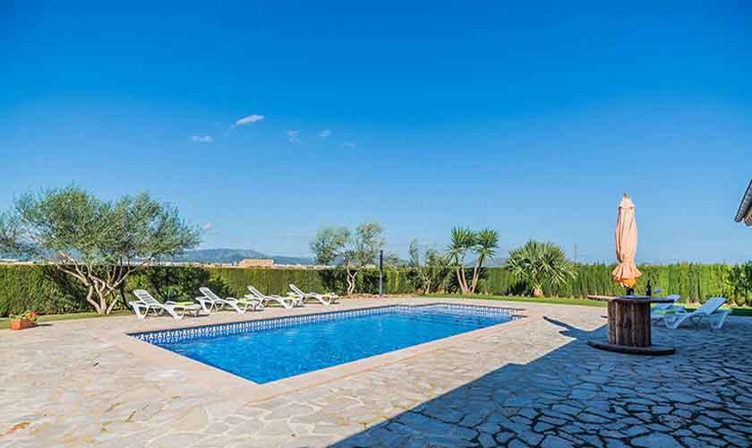 Poolblick und Finca Mallorca Norden PM 3926