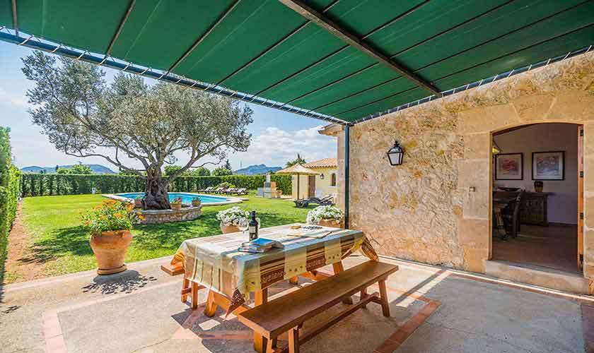 Terrasse Ferienfinca Mallorca PM 3971
