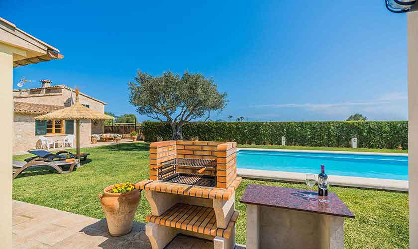 Pool und Barbecue Finca Mallorca PM 3971