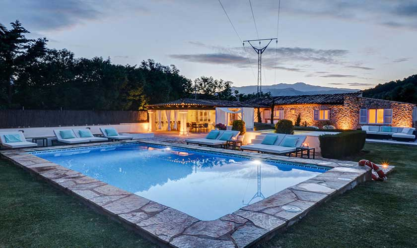 Pool beleuchtet Finca Mallorca Pollensa PM 3991