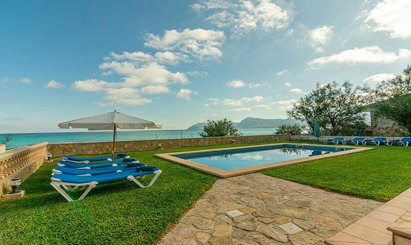 Pool und Rasen erienhaus Mallorca PM 430