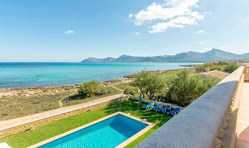 Meerblick von oben Ferienhaus Mallorca PM 430