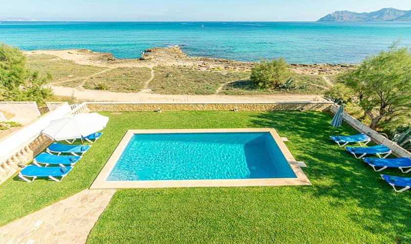 Pool und Meerblick Ferienhaus Mallorca PM 430