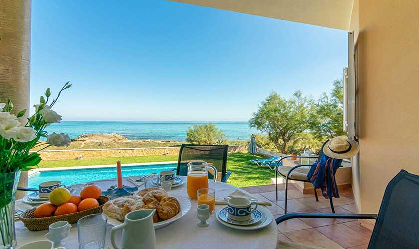 Terrasse und Meerblick Ferienhaus Mallorca PM 430