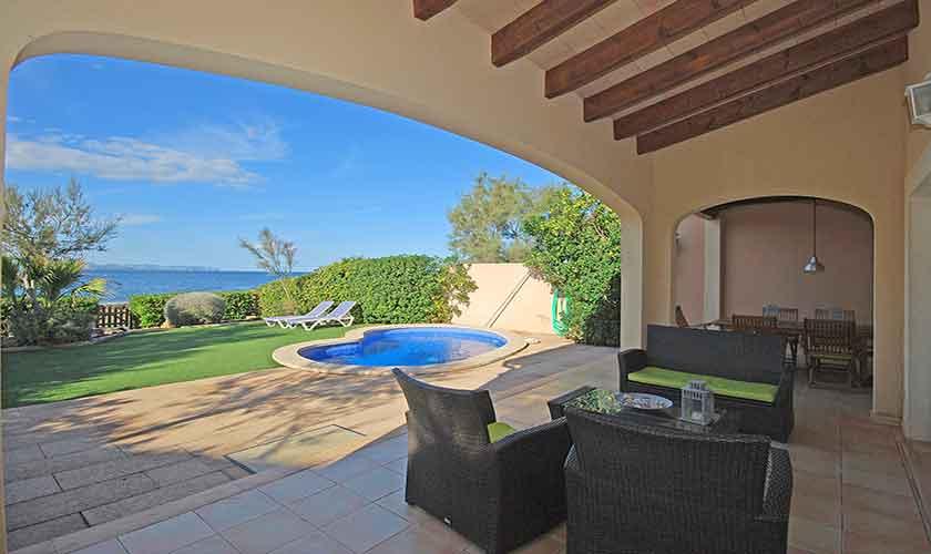 Terrasse Ferienhaus Mallorca PM 440