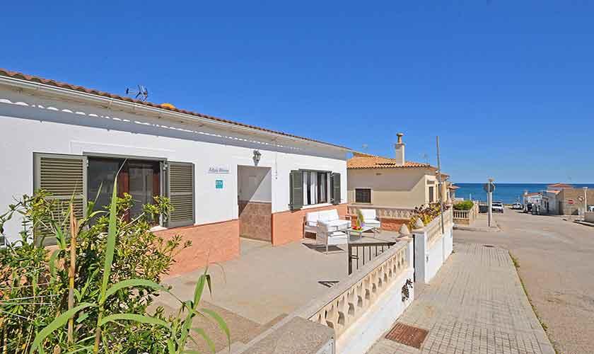 Terrasse und Meerblick Ferienhaus Mallorca PM 462