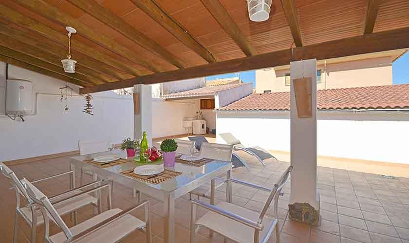 Terrasse Rückseite Ferienhaus Mallorca PM 462