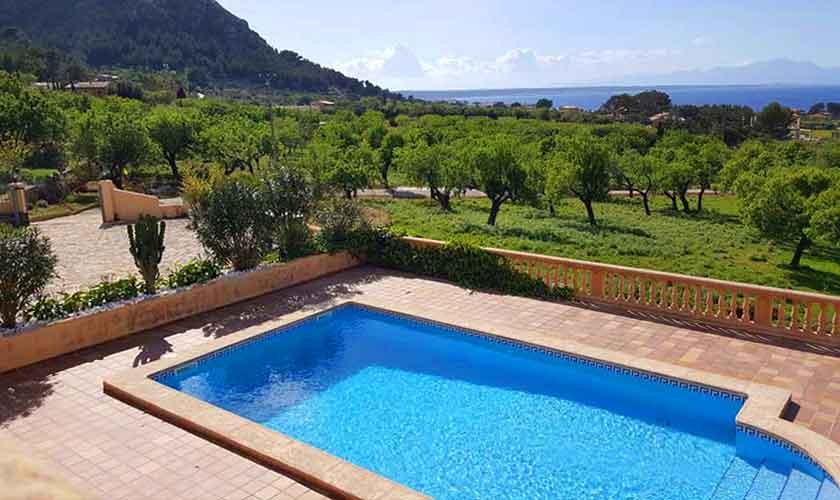 Poolblick Ferienhaus Mallorca PM 470