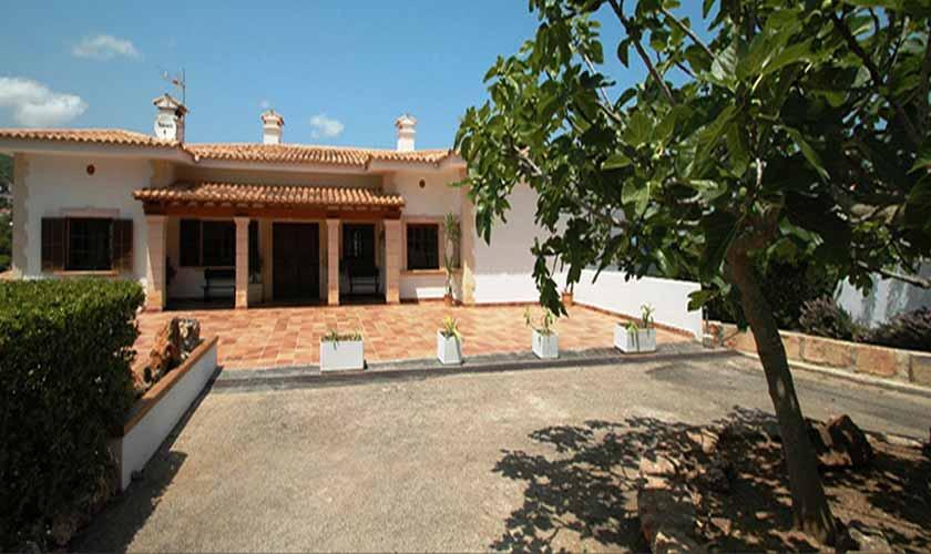 Blick auf die Ferienvilla Mallorca Ostküste PM 5140
