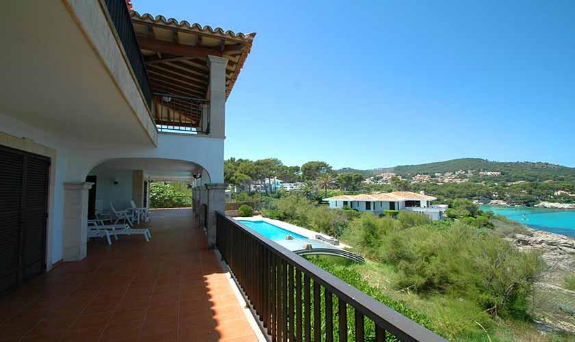 Terrasse und Meerblick Ferienvilla Mallorca PM 5140