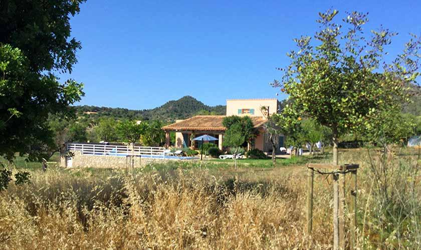 Blick auf die Ferienfinca Mallorca Nordosten PM 5204
