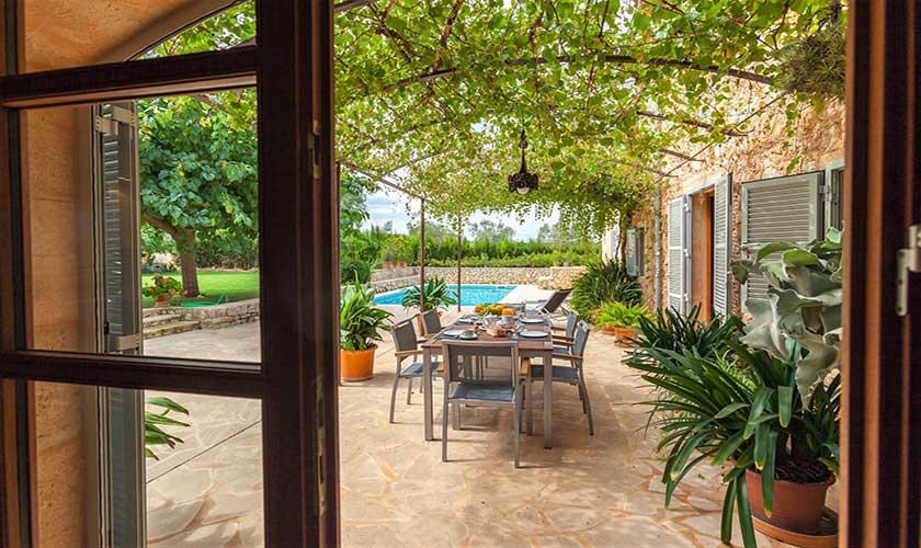 Terrasse Finca Mallorca bei Arta PM 5350