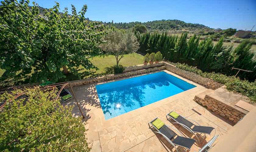 Poolblick Finca Mallorca bei Arta PM 5350