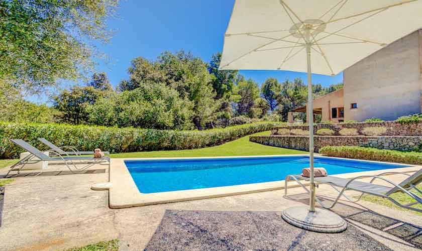 Poolblick Finca Mallorca bei Artá PM 5352