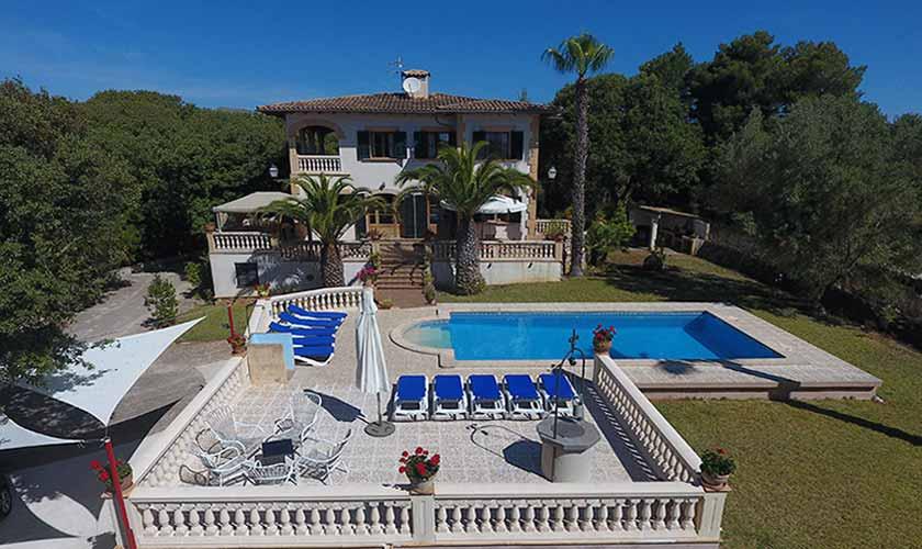 Blick auf die Ferienfinca Mallorca PM 542