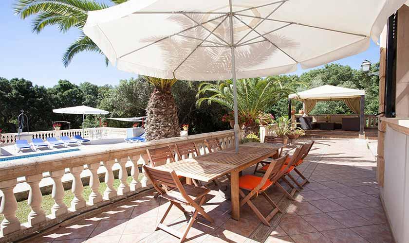 Terrasse Finca Mallorca Nordosten PM 542