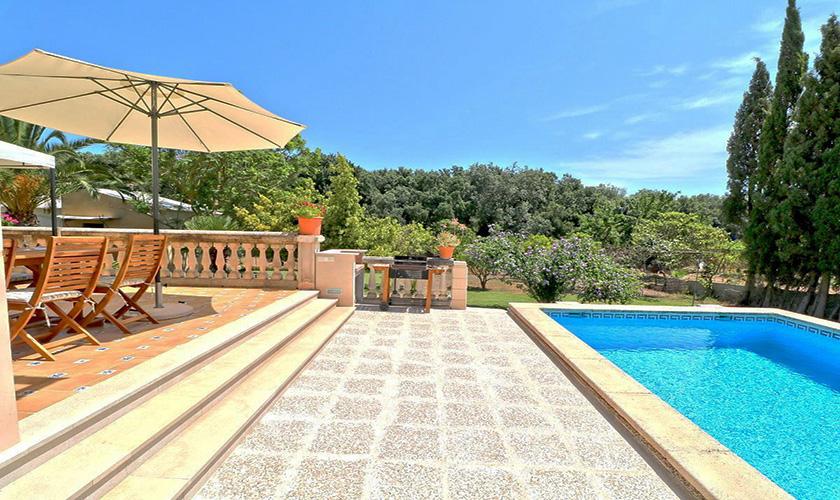 Pool und Terrasse Finca Mallorca PM 5424