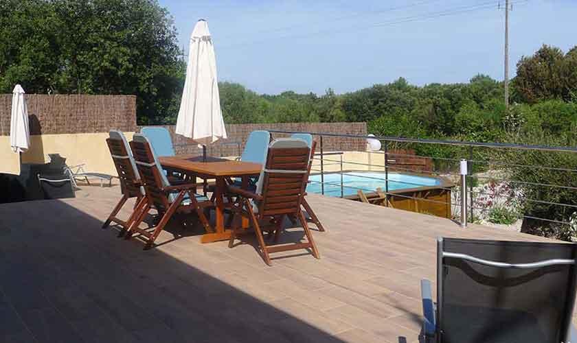Pool und Terrasse und Finca Mallorca PM 5496