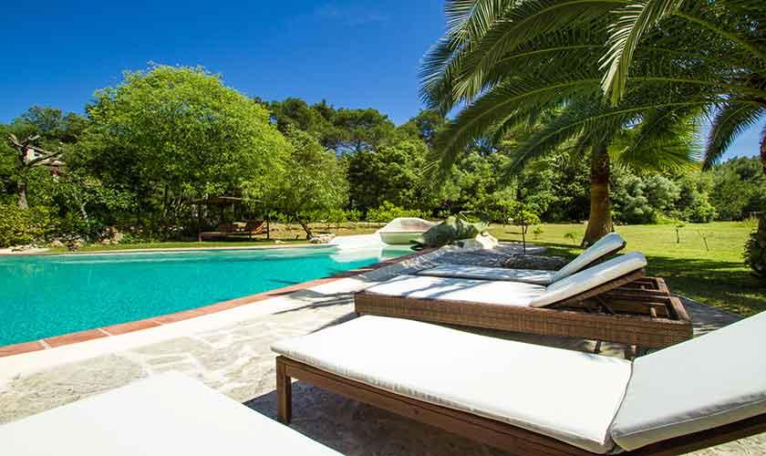 Liegen und Pool Finca Mallorca PM 558